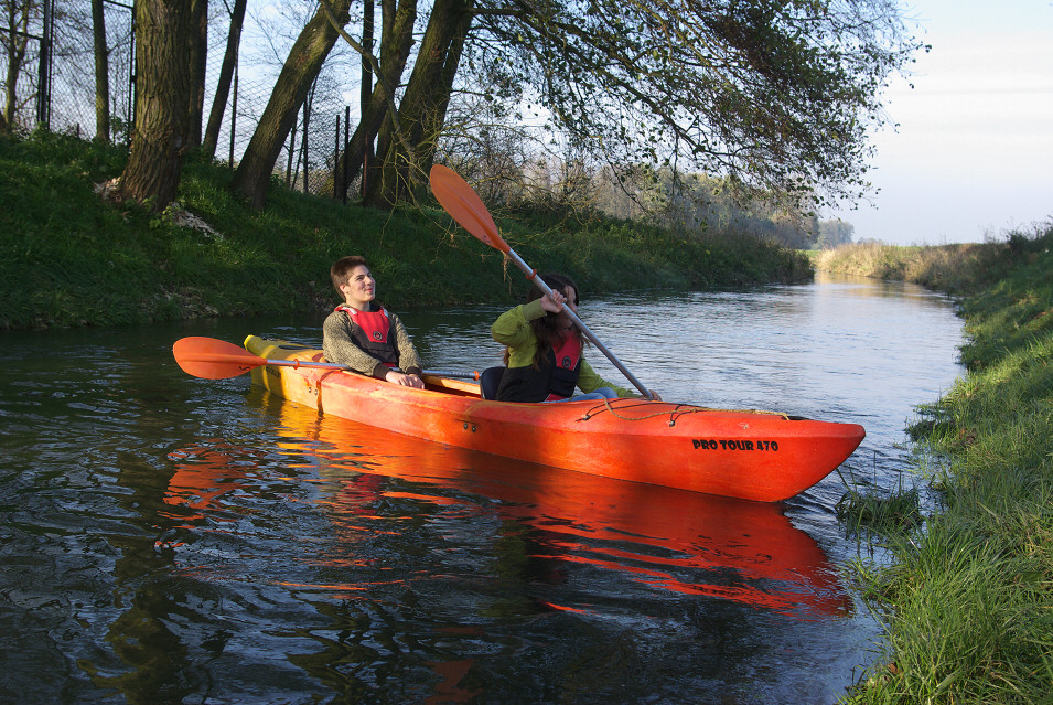Spływ Górną Pilicą poniżej Żarnowca