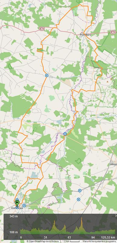 Mapa wycieczki