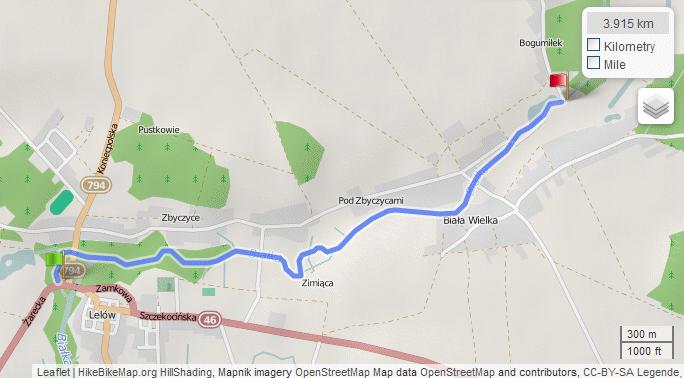 Mapa spływu